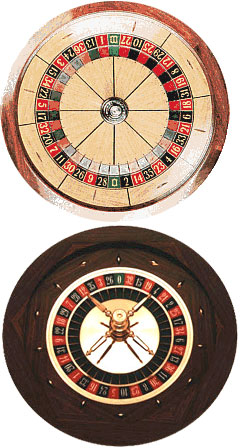 American & European Roulette Wheels